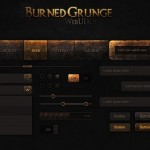 Burned Grunge Web UI KIT