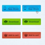 3 Simple Web Buttons – APP Store, Download and Add to Cart
