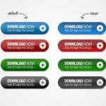 4 Colors Web Download Buttons