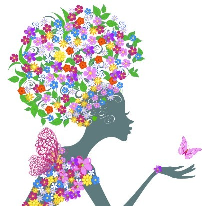 free abstract butterfly girl vector design 01 titanui