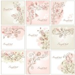 Abstract Flower Backgrounds 01