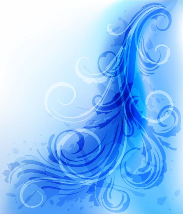 Free Blue Feather-Like Pattern Vector Background - TitanUI