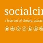Circular Social Media Icons PSD