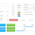 Clean White Web UI Kit (PSD)