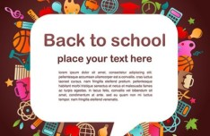 Creative Back To School Vector Material 01