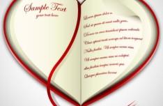 Creative Book Like Vector Heart