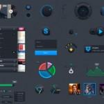 Dark HI-Tech Web UI Kit Layered PSD