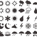 Dark Weather Icons Vector Material