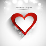 Elegant Valentine's Day Card Template Vector 01