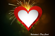 Elegant Valentine's Day Card Template Vector 06