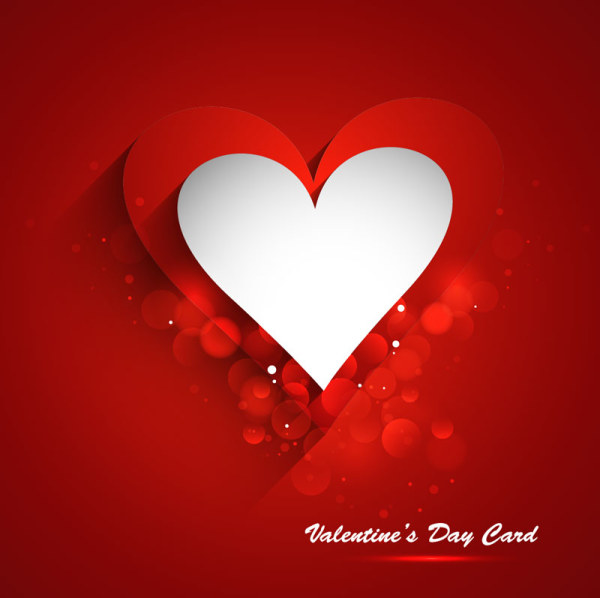Free Elegant Valentine's Day Card Template Vector 10 - TitanUI