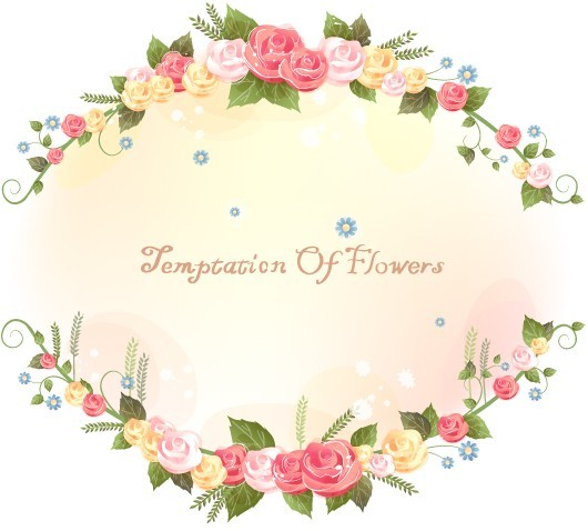 Free Flowers And Vine Vector Border Design 01 Titanui