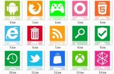 Fresh Web Application Icons with Reflection