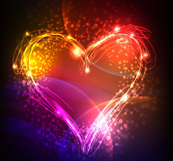 Gorgeous Valentines Day Heart Vector Background