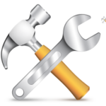 Hammer and Wrench Icon Layered PSD