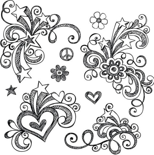 Gallery For gt Simple Hand Drawn Patterns