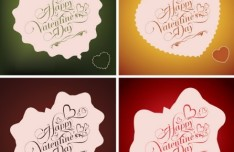 Happy Valentine's Day Heart-Shaped Labels 02