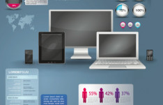 IT Information Technology Infographic Vector