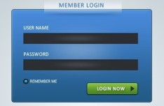 Member Login Forms Design PSD