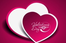 Pink Valentine's Day Heart Shaped Sticker