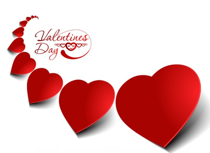 Free Red Heart-Shaped Labels Vector - TitanUI