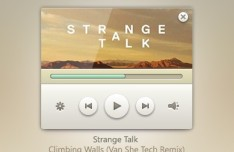Stylish Music Player PSD