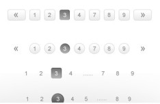 Stylish Pagination PSD