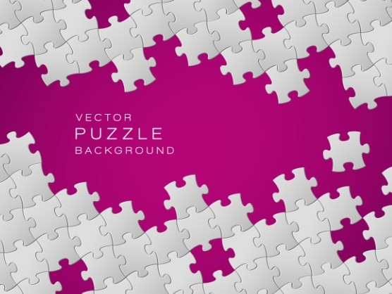 free white and rose red vector puzzle background