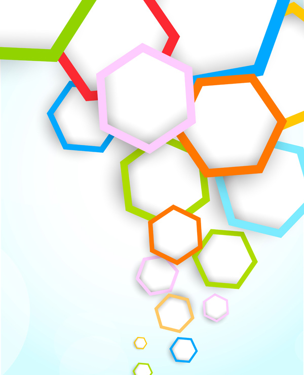 Free Abstract Colored Hexagon Background Vector - TitanUI