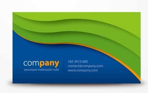 Free creative vector business cards with wave background for Business card background vector