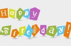 Happy Birthday Paper-cut Clip Art