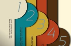Number Template Banners Vector 03