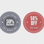Classical Special Offer Badges PSD