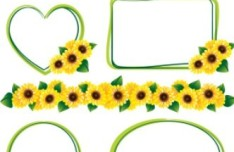 Hand Drawn Florals Border Vector 02
