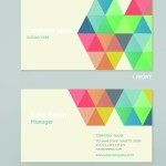 Stylish Business Card Template Vector 01