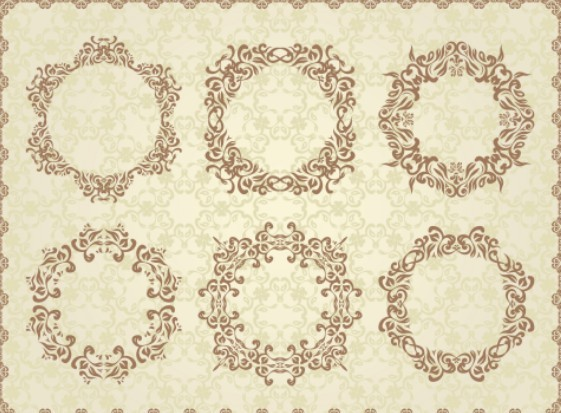 free wedding invitation patterns vector 01 for you to download and use ...