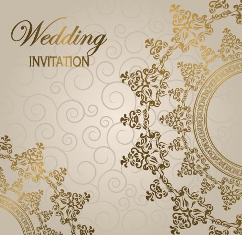 Wedding Invitation Patterns Vector 04 – Vector Pattern Free Download