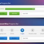 Set of Stylish Progress Bars