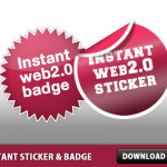 Instant Web 2.0 Sticker and Badge Template PSD