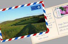 Beautiful Postcard Design PSD