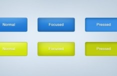 Blue Web Button Template PSD
