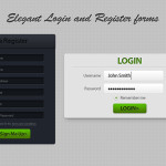 Elegant Register and Login Form Design PSD