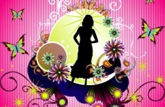 Fashion Pattern Girl Vector Illustration 14