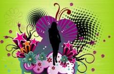 Fashion Pattern Girl Vector Illustration 16