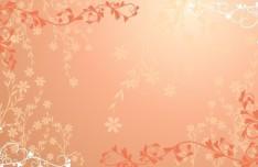 Orange Floral Patterns Vector