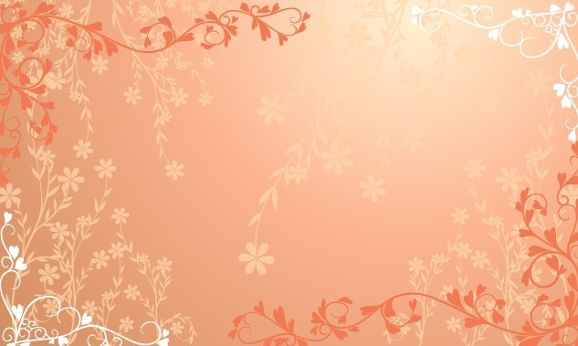 Free Orange Floral Patterns Vector Titanui