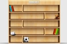 Wooden Bookshelf PSD