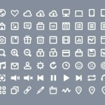 63 White Web Icons PSD