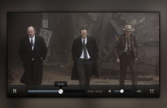 Clean Dark Video Player Interface PSD