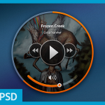Disc-Like Music Player GUI PSD